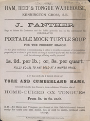 Advert For J Panther, Ham, Beef & Tongue Warehouse